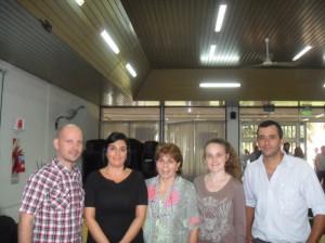 Integrantes de la Facultad de Alimentos junto a la Lic. Nancy Pérez