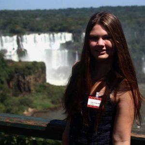 Paula en las Cataratas del Iguazú